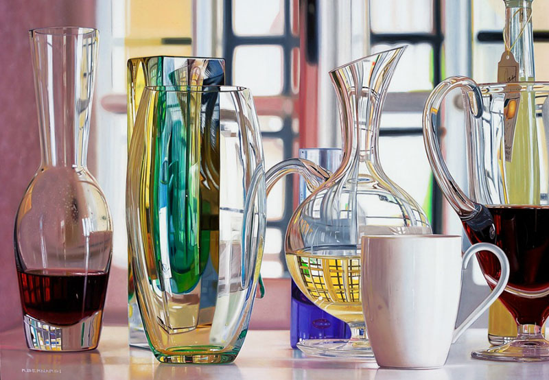 hyperrealistic paintings Roberto Bernardi Gli-scienziati