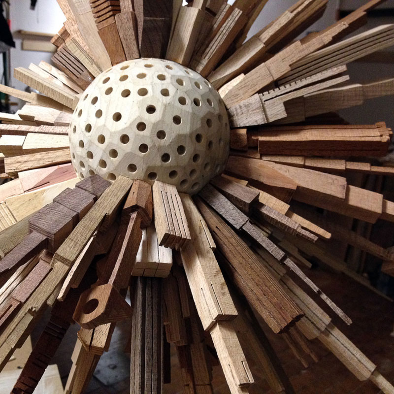 how to make a half sphere out of wood