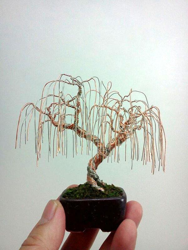 Wire Bonsai Tree   Miniature Bonsai Tree Wire Sculptures By Ken To Twistedsifter