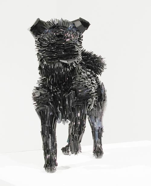 осколки стекла скульптуры животных Марта klonowska Ла-Marquesa-де-Pontejos-после-Франциско-де-Гойя-1