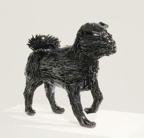 осколки стекла скульптуры животных Марта klonowska Ла-Marquesa-де-Pontejos-после-Франциско-де-Гойя-3