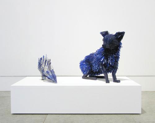 осколки стекла скульптуры животных Марта klonowska портрет-в-а-Young-Girl-после-Charles-d'Agar-1