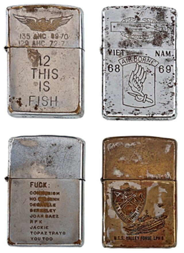 soldiers engraved zippo lighters from the vietnam war (1)