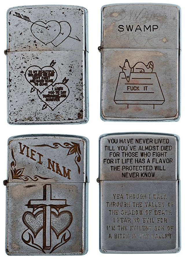 Soldiers Engraved Lighters From Vietnam Twistedsifter