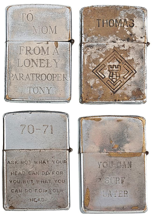soldiers engraved zippo lighters from the vietnam war 4 Revealing the Contents of a 100 year old Time Capsule