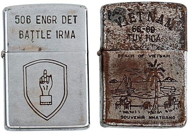 soldiers engraved zippo lighters from the vietnam war (6)
