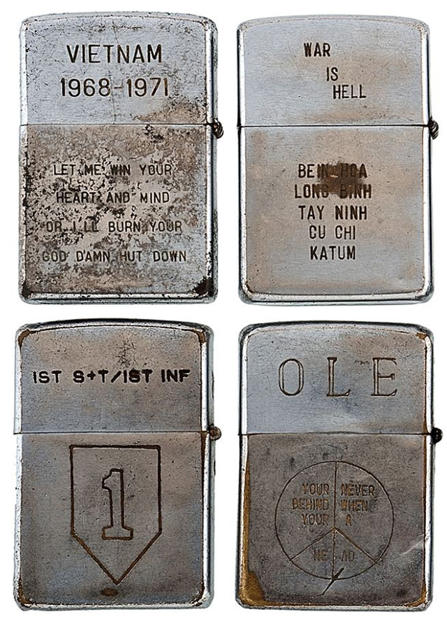 soldiers engraved zippo lighters from the vietnam war (8)