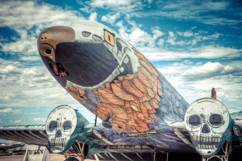 the boneyard project art on old planes 7 St. Louiss Epic MonstroCity