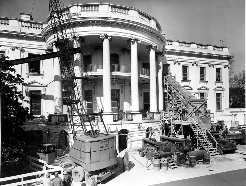 white house gutted truman restoration 1949 - 1951 (10)