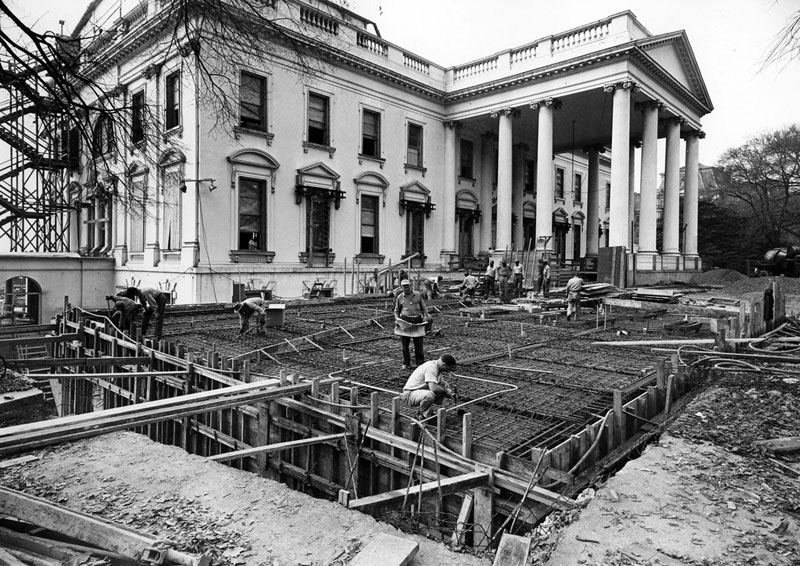 white house gutted truman restoration 1949 - 1951 (14)