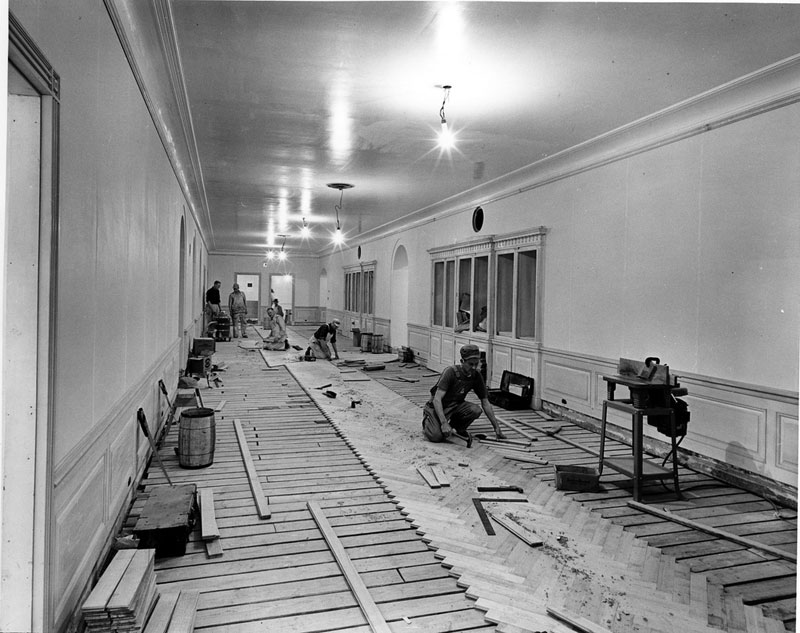 white house gutted truman restoration 1949 - 1951 (19)