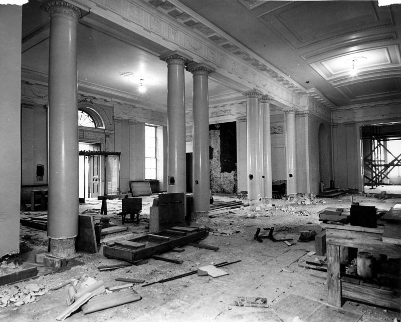 white house gutted truman restoration 1949 - 1951 (2)