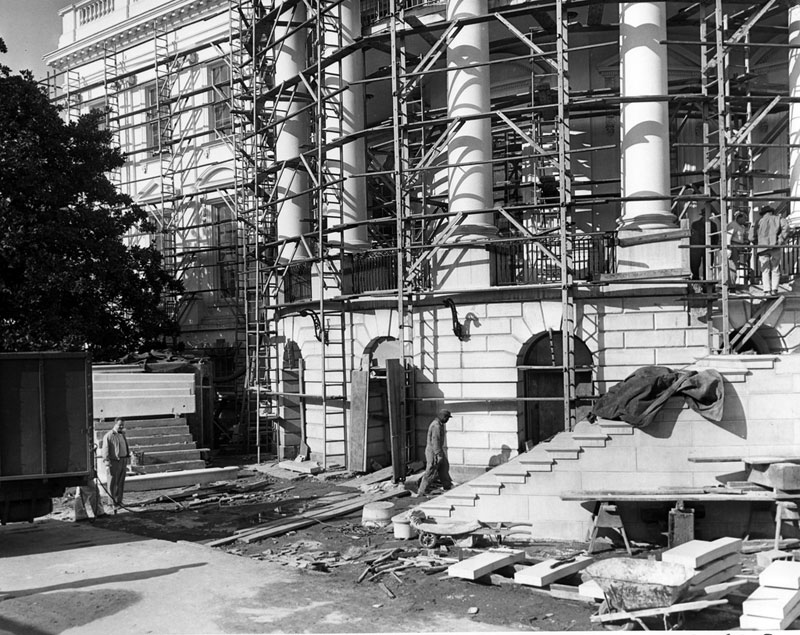 white house gutted truman restoration 1949 - 1951 (20)