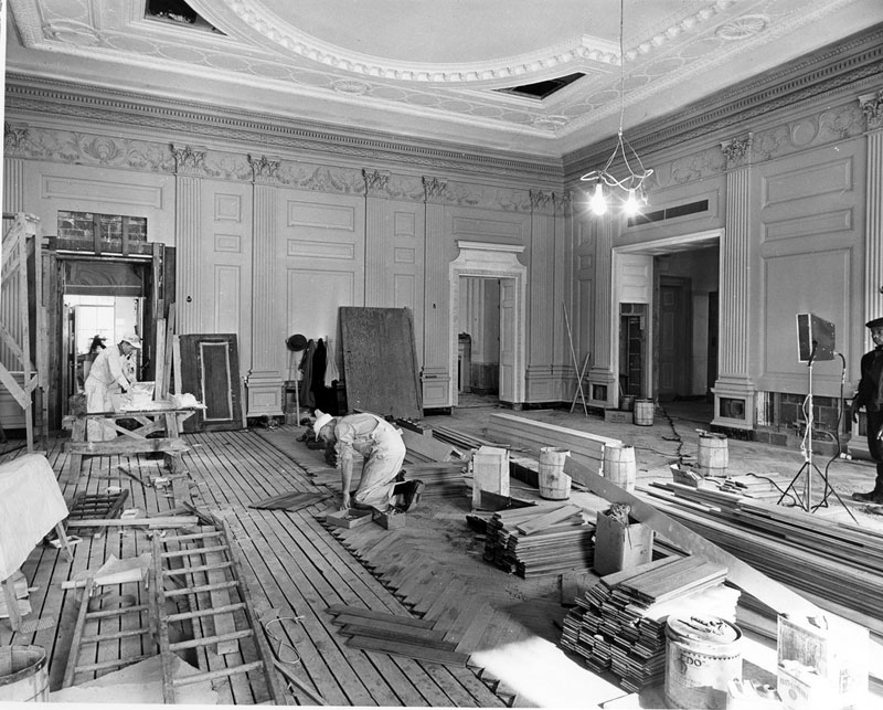 white house gutted truman restoration 1949 - 1951 (21)