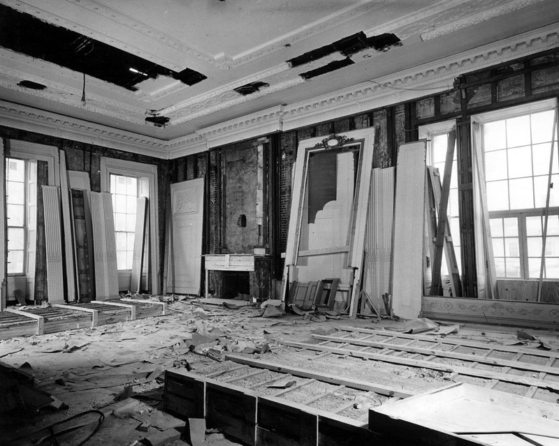 white house gutted truman restoration 1949 - 1951 (4)