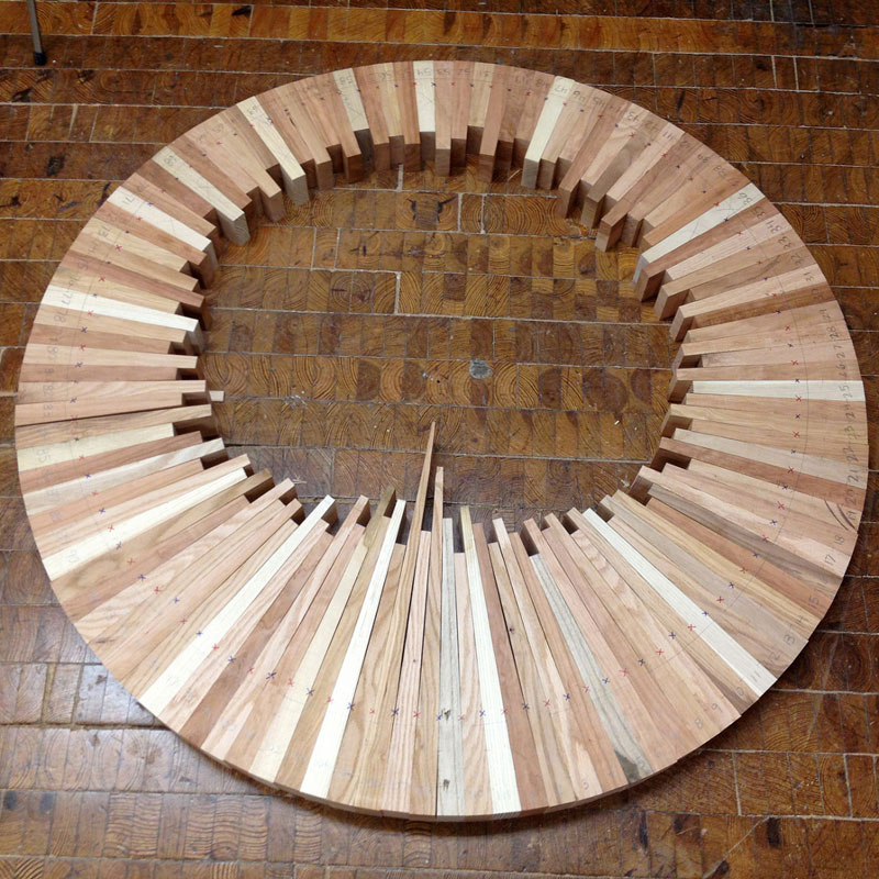wooden cityscape wheel carving sculpture james mcnabb (2)