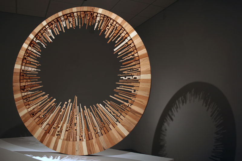 wooden cityscape wheel carving sculpture james mcnabb 7 You Wont Believe these Sculptures are Made Entirely of Wood