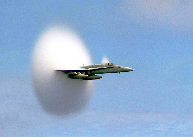 Airplane Breaking The Sound Barrier Perfect Timing Photograph