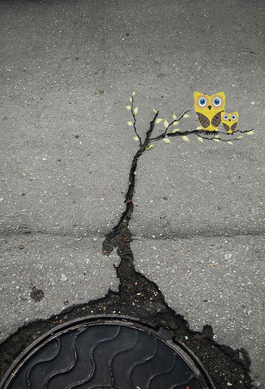 alexey menschikov street art 1 Playful Diversions on the Streets of France by OakOak