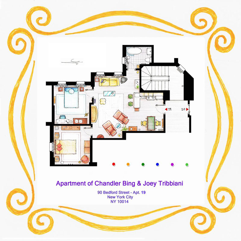 apartment_floor plan of_chandler_and_joey_from_friends_by_Inaki Aliste Lizarralde-nikneuk