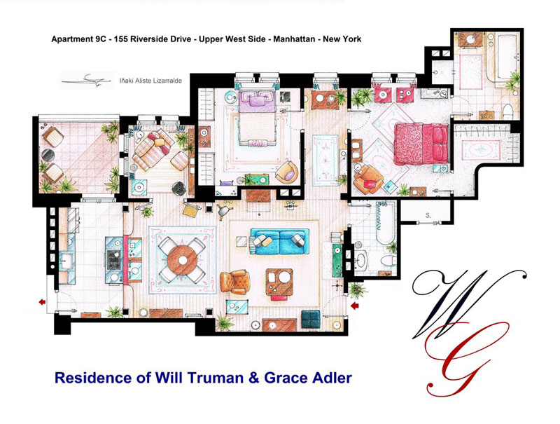 Detailed Floor Plans of TV Show Apartments «TwistedSifter