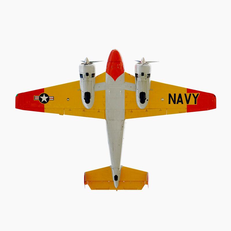 Beechcraft-Model-18-(SNB-2)-directly-overhad-jeffrey-milstein