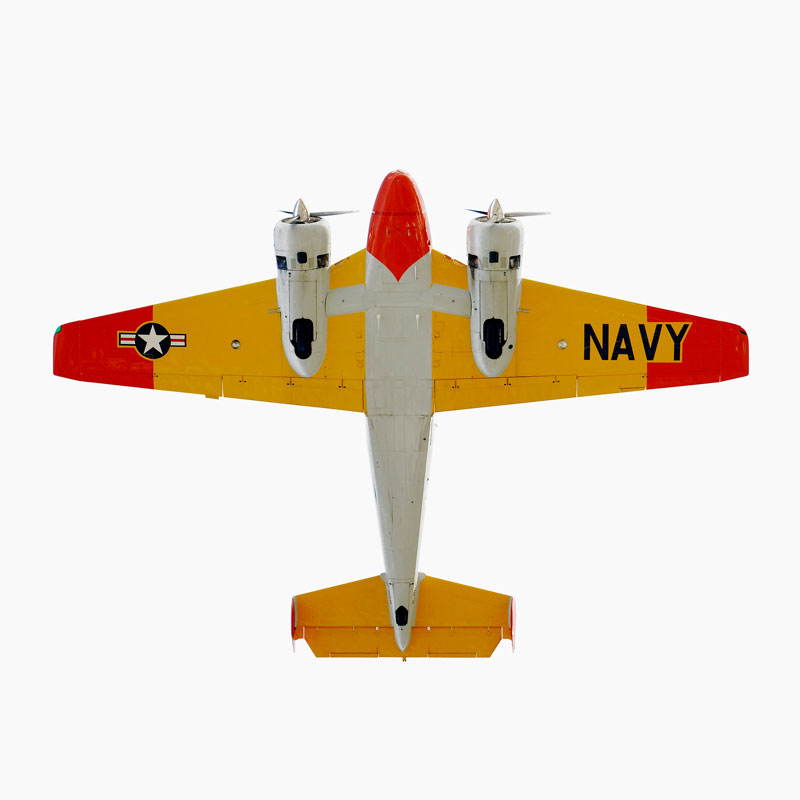 Beechcraft-Model-18-(SNB-2)-directly-overhad-jeffrey-milstein