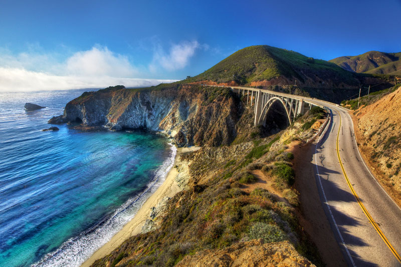 bixby bridge highway 1 big sur california A World Heritage Site Railway Route through the Swiss Alps