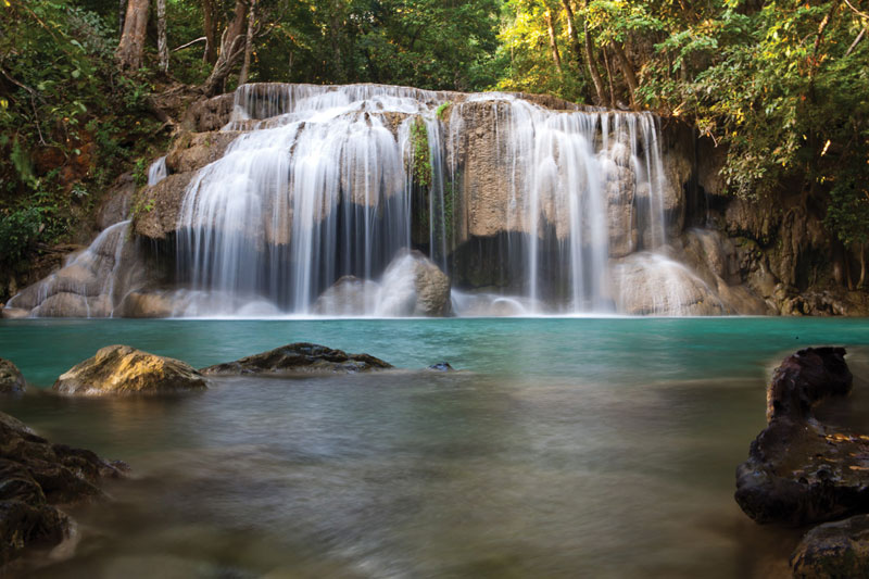 Beautiful waterfall in thailand s erawan waterfalls national park - Picture Of The Day Erawan Falls Thailand 171 Twistedsifter