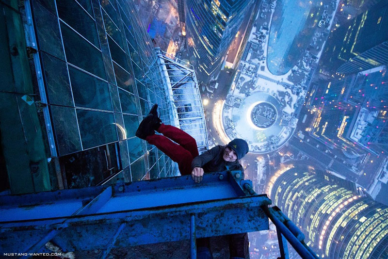 extreme rooftopping skywalking photos mustang wanted russia 12 25 Death Defying Photos by Vadim Makhorov