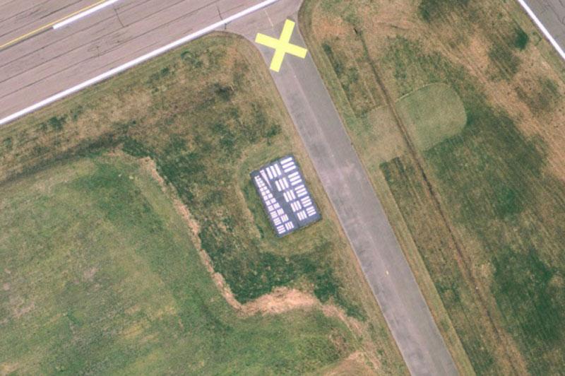 cartillas de visión para aviones aéreos blancos de calibración cámaras (8)