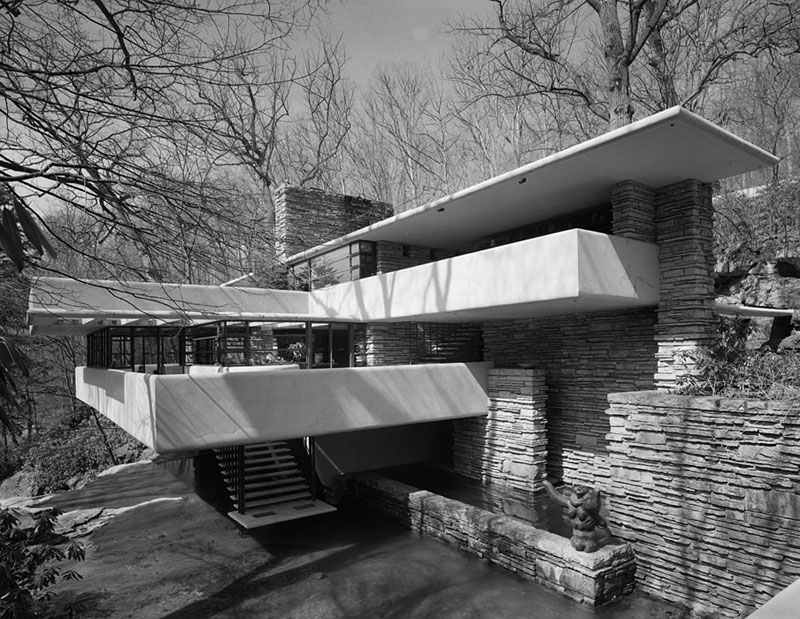 Fallingwater,-Frank-Lloyd-Wright,-Bear-Run,-PA,-1971-ezra-stoller