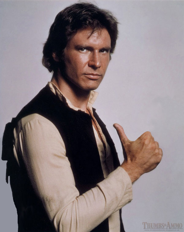 hans solo thumbs up james l Swapping Guns for Thumbs