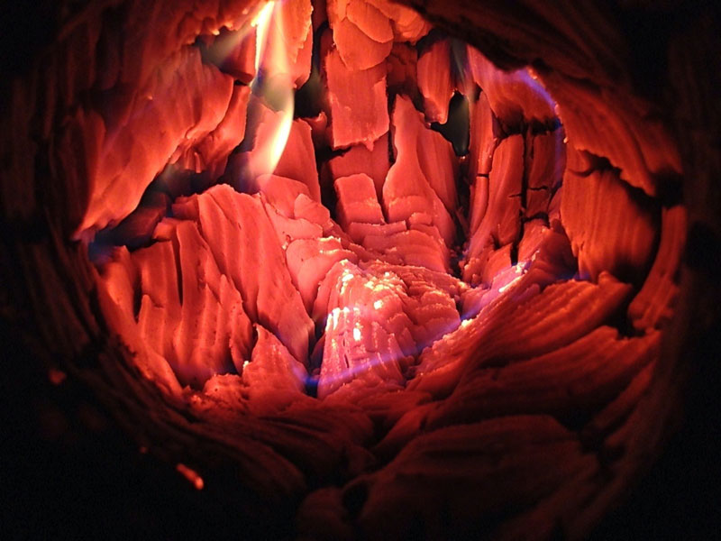 Picture of the Day: Inside a Firelog