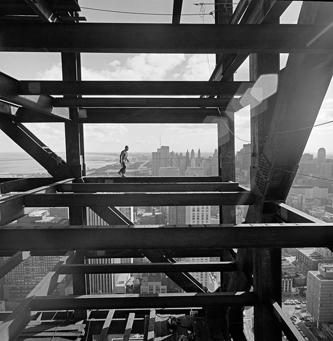 John-Hancock-Chicago-construction,-Skidmore,-Owings-&-Merrill,-Chicago,-IL,-1967-ezra-stoller