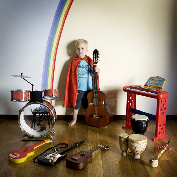 Portraits of Kids with their Favorite Toys