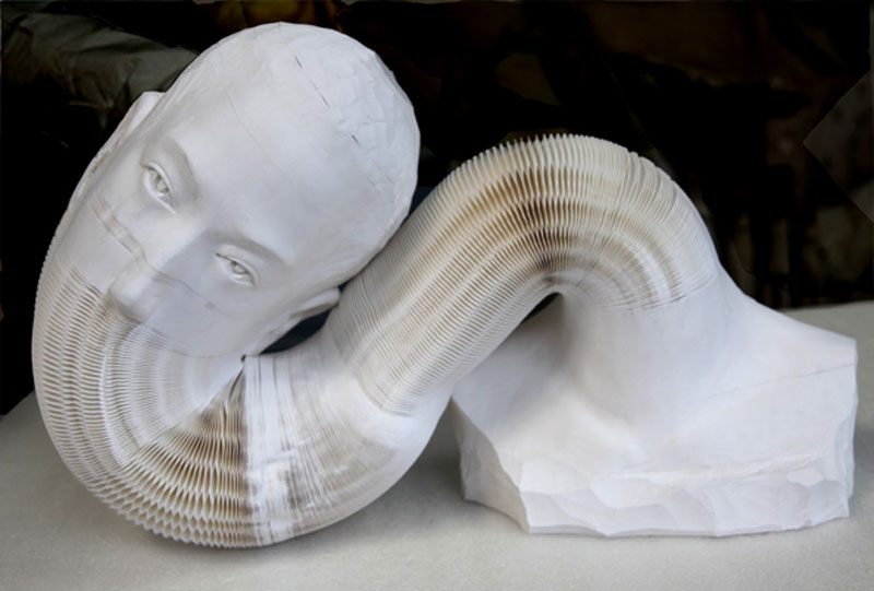 Malleable paper sculptures by li hongbo «twistedsifter