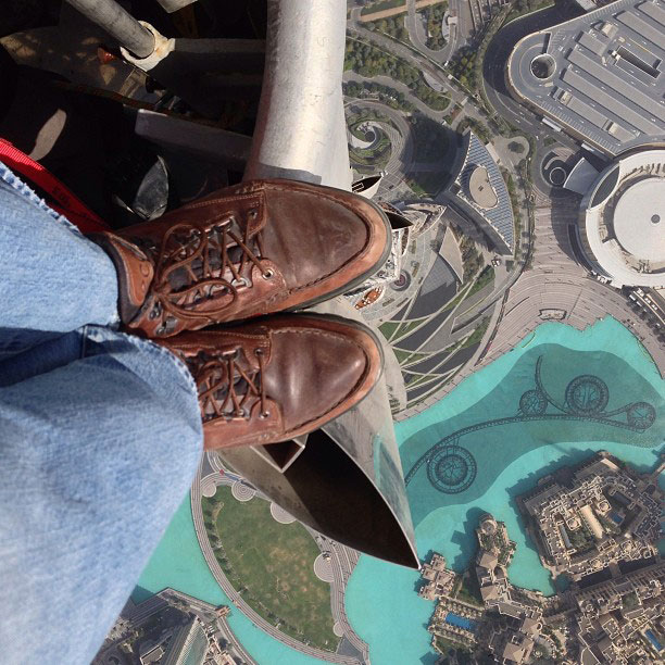 looking down from top of burj khalifa The Top 75 Pictures of the Day for 2013