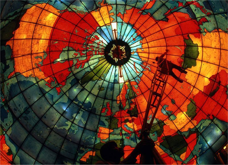 mapparium stained glass globe mary baker eddy library boston The Top 50 Pictures of the Day for 2013