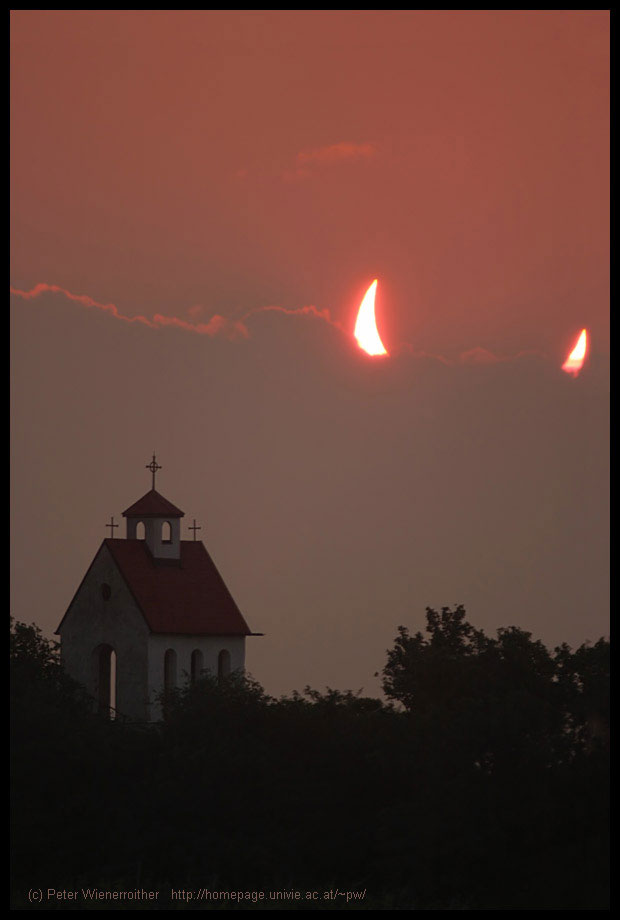 partial solar eclipse devil horns sun The 50 Most Perfectly Timed Photos Ever