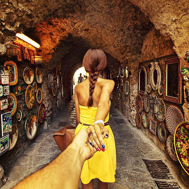 photographer follows girlfriend around the world holding hand photo series 15 21 Roads You Have to Drive in Your Lifetime