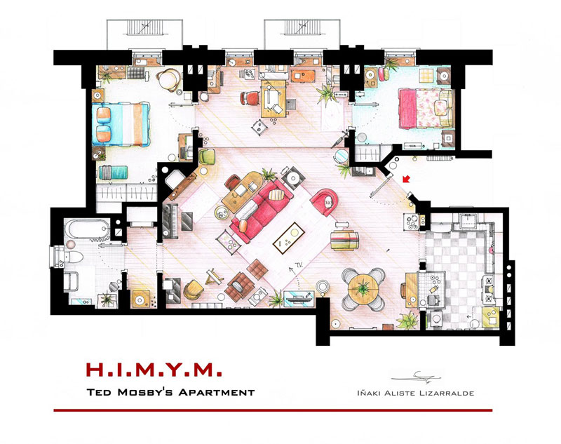 ted_mosby_apartment_floor plan-from_himym_by_Inaki Aliste Lizarralde-nikneuk