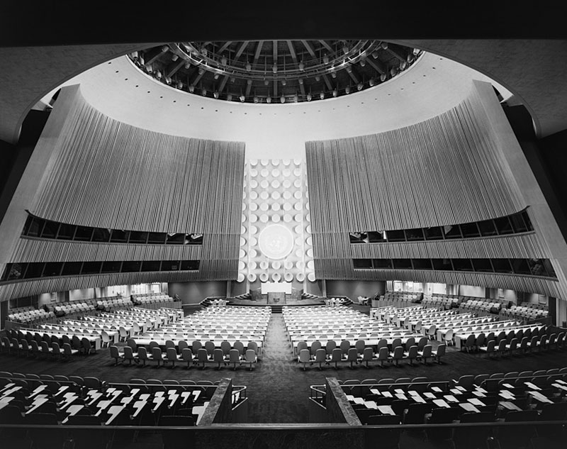 United-Nations-General-Assembly,-International-Team-of-Architects-Led-by-Wallace-K