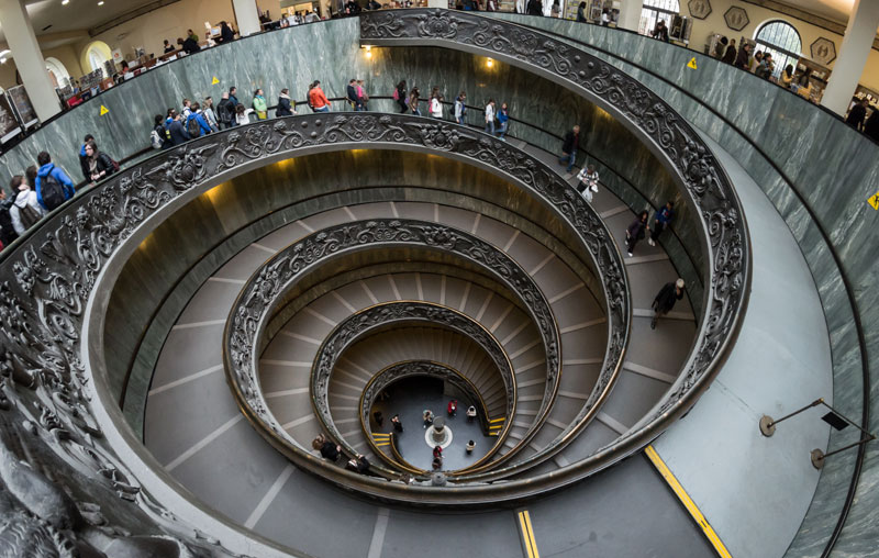 vatican museums spiral staircase giuseppe momo The Top 50 Pictures of the Day for 2013