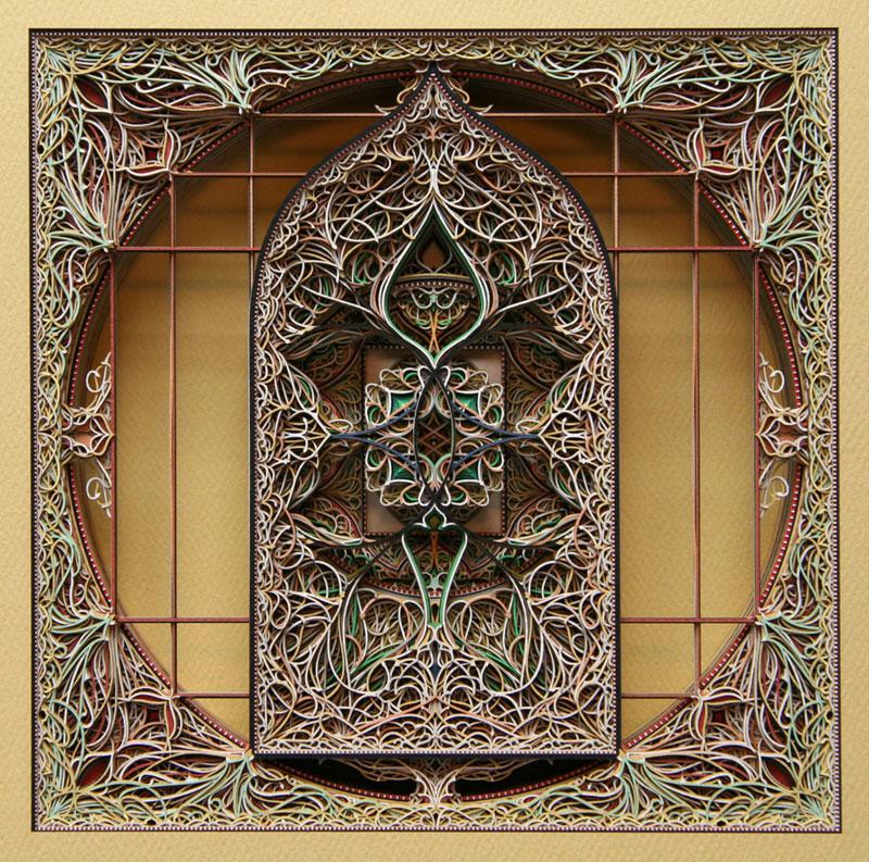 3D Laser Cut Paper Art by EricStandley