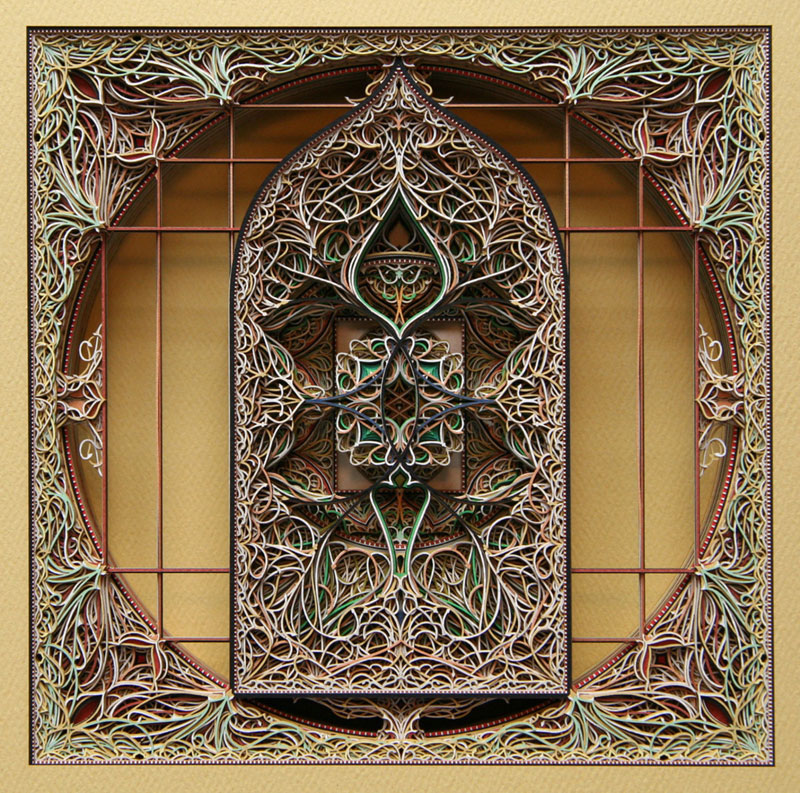 3d laser cut paper art eric standley layered complex intricate 23 Paper Plants and Animals Cut By Hand with a Surgical Knife