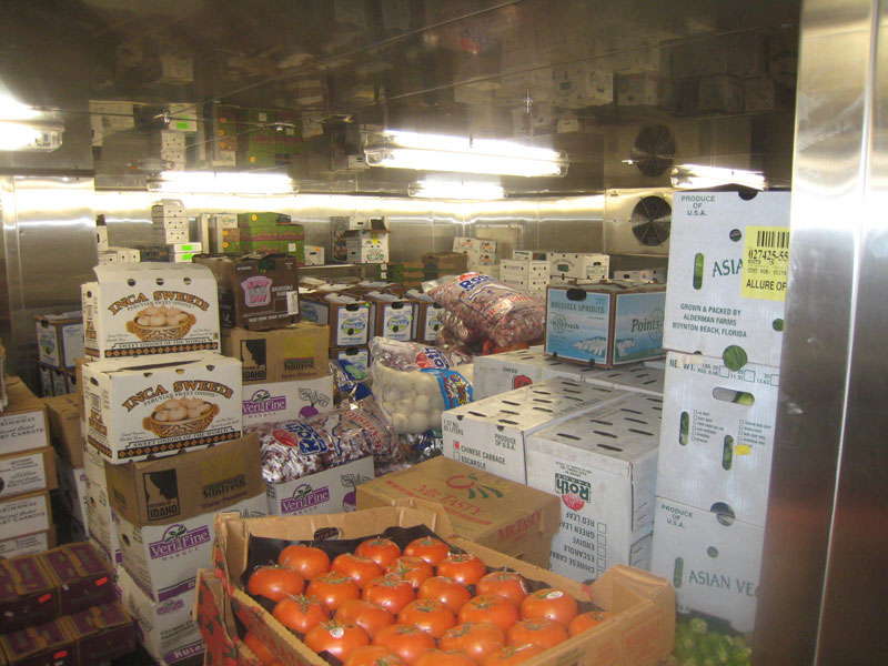 Allure of the seas food storage rooms (2)