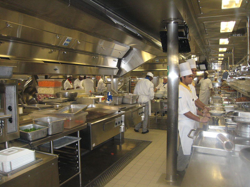 Behind The Scenes Of The Worlds Largest Cruise Ship TwistedSifter - Cruise ship kitchen