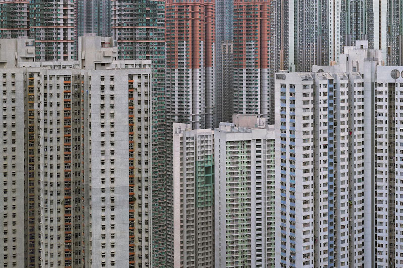 architectural density in hong kong michael wolf 4 Landscape Photos Created with the Human Body