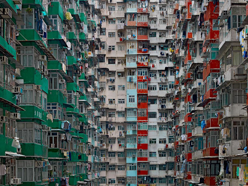 architectural density in hong kong michael wolf 8 Skyward Photos Capture Hong Kongs Architectural Verticality